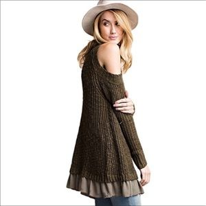 Olive green tunic/sweater