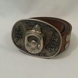 Itsus Other - Itsus Beverage Co. buckle with Brown Leather Belt