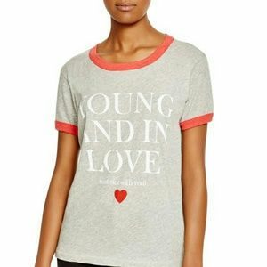 Wildfox Tops - Wildfox Young and In Love Graphic Tee