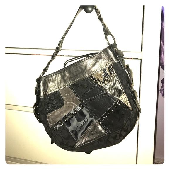 4a13a04b11a1 Coach Handbags - Gray and black cheetah leopard Snake bag