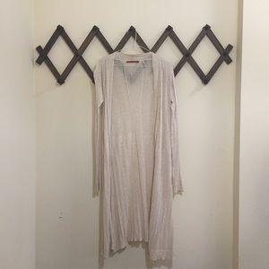 Belldini Sweaters - NWOT Oatmeal Knit Open Thin Long Cardigan Sweater