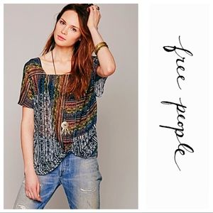 Free People Drippy Square Knot Pullover Top