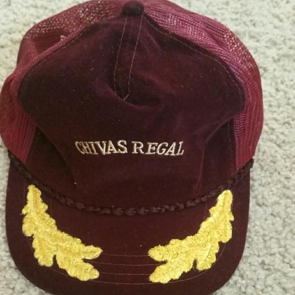 VINTAGE CHIVAS REGAL WHISKEY SNAPBACK HAT. M 5924bea7bf6df5a374019d5d e13456c0554