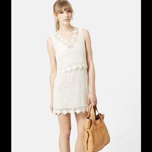 Topshop Crochet Overlay Dress