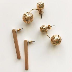Gold Earrings Set