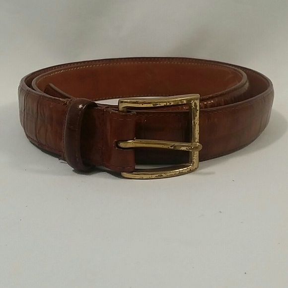 54 unknown other top grain croco cowhide leather