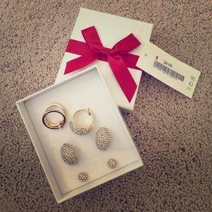 NWT gold and diamond jewel set