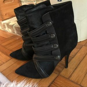 Isabel Marant Shoes - Isabel Marant Pony Hair & Suede Black Booties 7.5