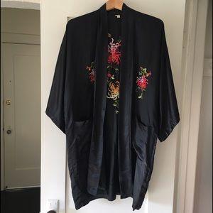 Reformation Jackets & Blazers - embroidered silk robe coat