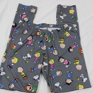 Peanuts Pants - Peanuts Snoopy & Gang Leggings, Large