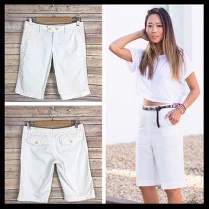 juicy couture // white bermuda shorts