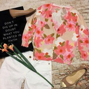 💙 J.Crew Spring/Summer Floral Cardigan