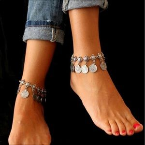 Jewelry - 🔥Brilliant  rich money coin charm anklet bracelet