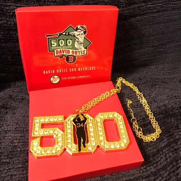 sox david ortiz big papi necklace collectible os from