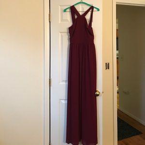 Lulu Dresses & Skirts - Lulu's Maroon floor length dress
