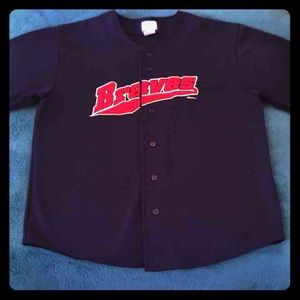 MLB Other - Vintage Braves Button Down light weight Jersey!