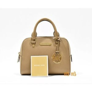 Michael Kors Handbags - Michael Kors Small Satchel cross body Dark Camel
