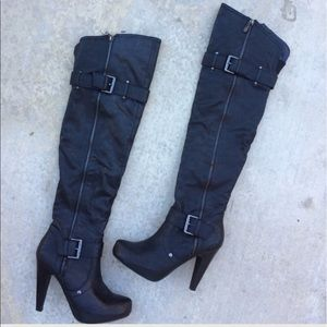 Guess Shoes - Guess black over the knee boots