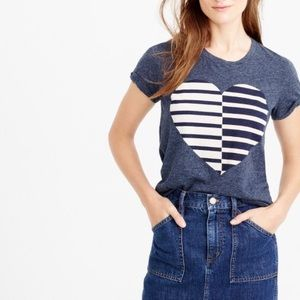 J. Crew Tops - J.Crew split heart t shirt