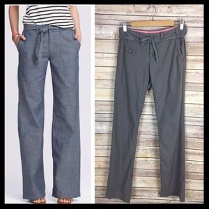 banana republic // tie waist wide leg gray pants