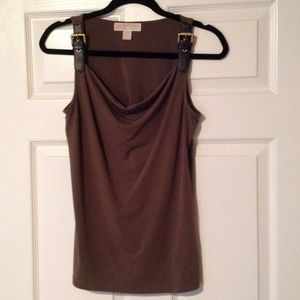 Micheal of Micheal Kors army green tank Small