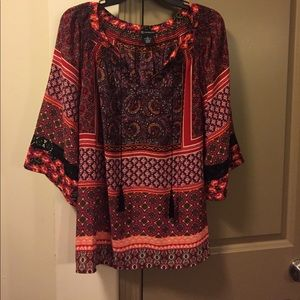 new directions Tops - New Directions Size Large Print Blouse