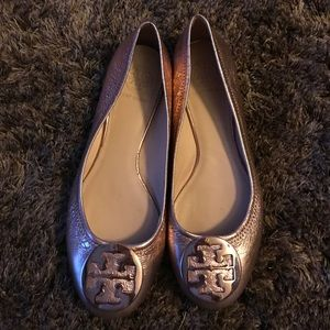 Tory Burch Shoes - Tory Burch rose gold flats