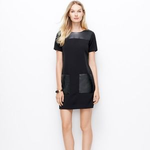 Ann Taylor Dresses & Skirts - Ann Taylor Faux Leather Pocket Dress in Black