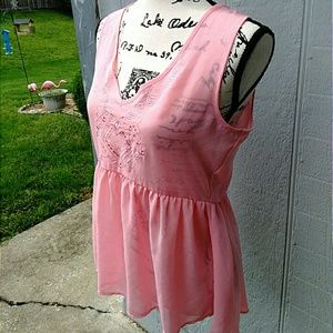 Tops - NWOT Light Pink High Low Blouse