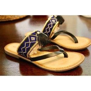 Callisto Shoes - Callisto of California Tassel Sandals