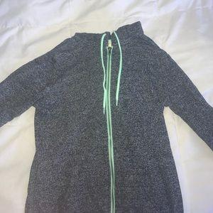 Zine Other - Gray Sweatshirt with seafoam trim