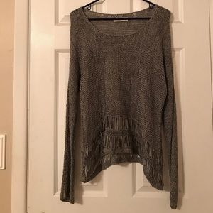 Abercrombie & Fitch Sweaters - Grey Abercrombie & Fitch Woven Sweater
