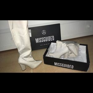 Missguided Shoes - Pointed Toe Over the Knee Boot