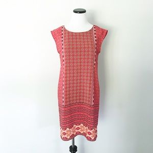 OLD NAVY Coral pink print Shift Dress