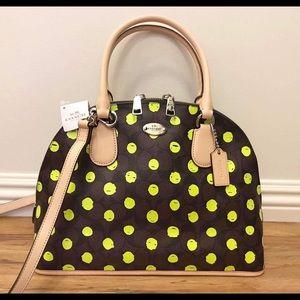 Coach Handbags - 🆕Coach Dotted Cora Domed Satchel/Crossbody