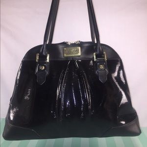 Marc Fisher Handbags - MARC FISHER Black Patent Style Dome Satchel