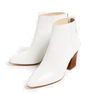Zara Shoes - Zara white leather ankle boots