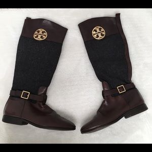 Tory Burch Shoes - Tory Burch Tall Leather and Wool Boots size 8 1/2
