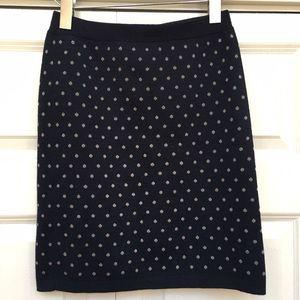 Club Monaco Dresses & Skirts - Club Monaco Wool Blend Navy Silver Polka Dot Skirt