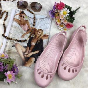CROCS Shoes - Crocs Petal Pink Slingback Sandals
