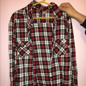 angel forever Tops - Plaid flannel
