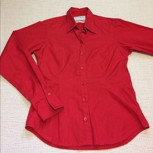 Thomas Pink Tops - Pink - Thomas Pink red Superfine Two-Fold shirt