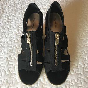 cd0c0fb3ba5 Merona Shoes - Merona Ruth Canvas Zipper Wedge Espadrilles Size 8