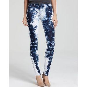 Allen B. By Allen Schwartz Denim - Tie Dye Bleached Skinny Jeans w/ Ankle Zipper
