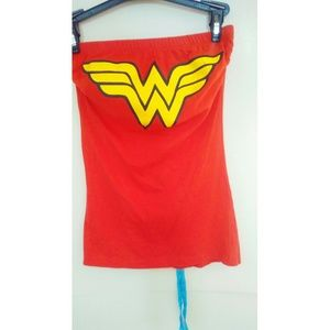 Wonder woman strapless shirt