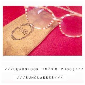 Vintage EMILIO PUCCI Sunglasses, 1970's, Fab! NOS