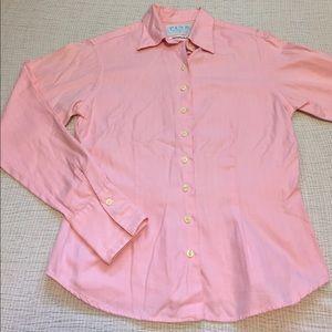 Thomas Pink Tops - Pink - Thomas Pink pink Herringbone Twill shirt