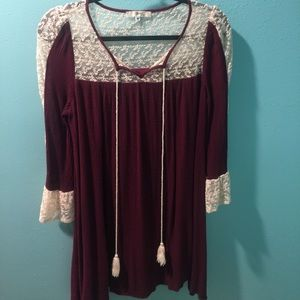 Andree Dresses & Skirts - Maroon Boutique style dress.