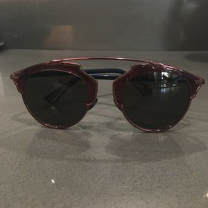 Dior So Real Burgundy and Navy Sunglasses!