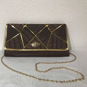 Rachel Handbags - Rachel Faux Alligator Clutch